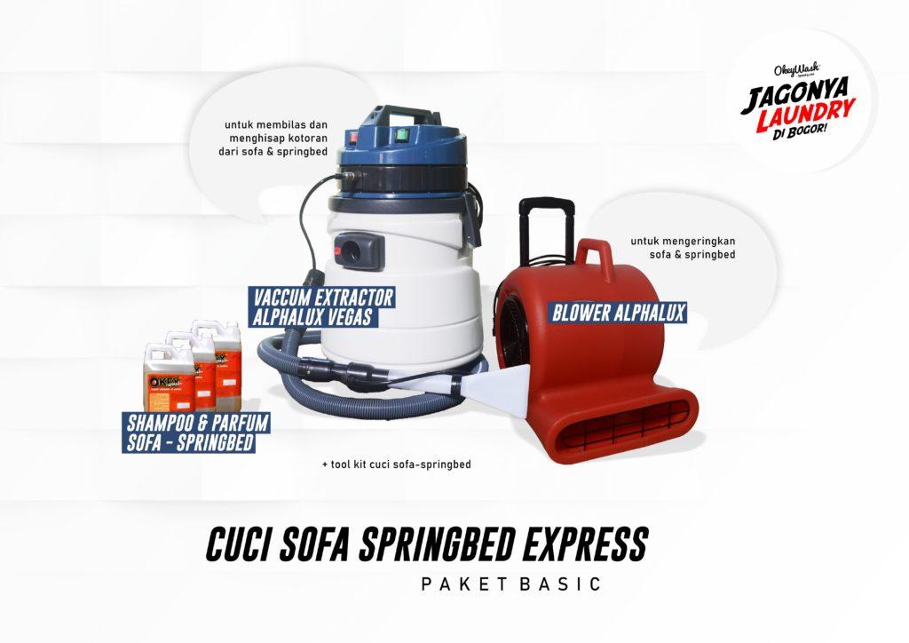 Paket Basic Cuci Sofa-Springbed Express