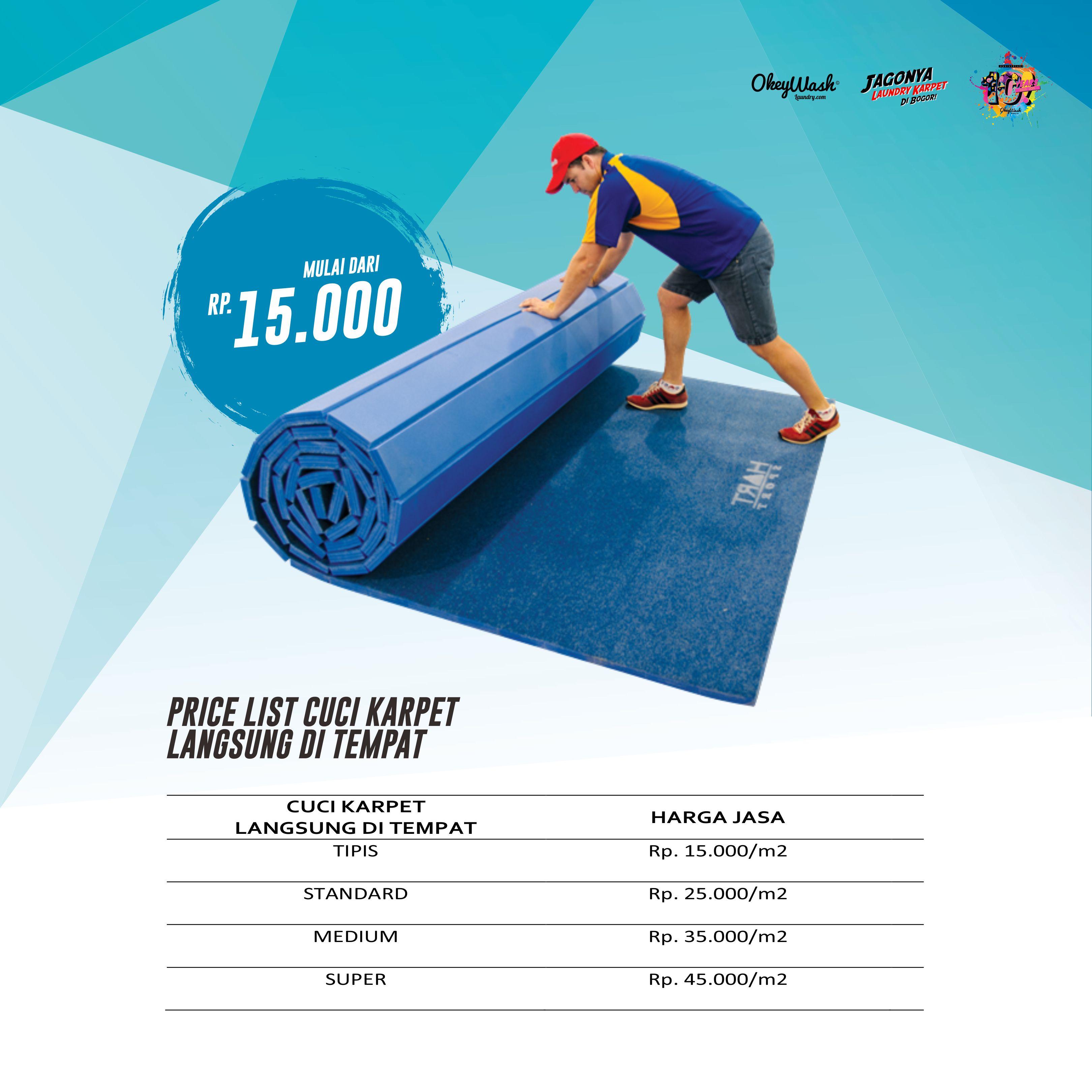Price List Okey Wash Laundry 2019 - Cuci Karpet Langsung di Tempat