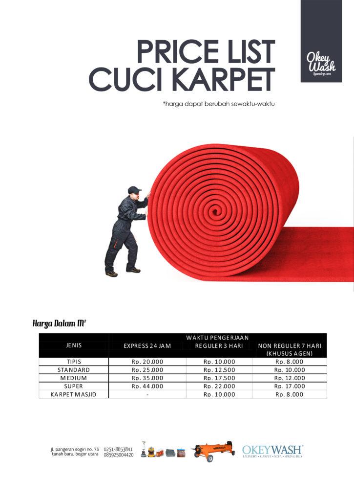 Price List Cuci Karpet Okey Wash Laundry Bogor - www.okeywashlaundry.com